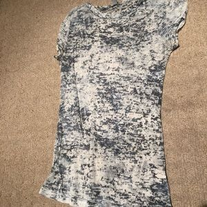 Tops - White and Gray Burnout T-Shirt
